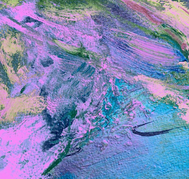 Pintura abstrata pela lona do óleo, fundo ilustração stock
