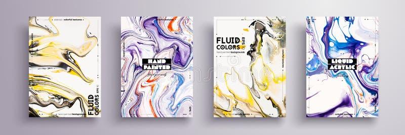 A pintura abstrata, pode ser usada como um fundo na moda para o papel de parede, o cartaz, o convite, a tampa e a apresentação lí ilustração stock