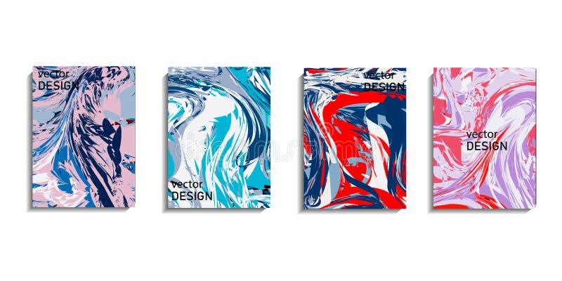 A pintura abstrata, pode ser usada como um fundo na moda para papéis de parede, cartazes, cartões, convites, Web site arte finala ilustração royalty free