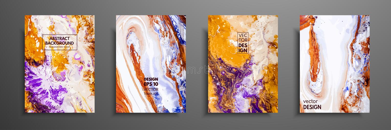 A pintura abstrata, pode ser usada como um fundo na moda para papéis de parede, cartazes, cartões, convites, Web site moderno ilustração royalty free