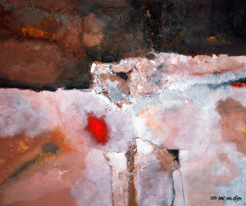 Pintura abstrata por Baronete camionete Oijen fotos de stock royalty free