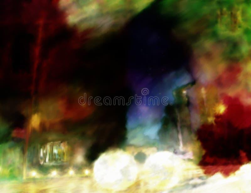 Pintura abstrata urbana ilustração do vetor