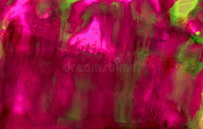 Pintura abstrata verde cor-de-rosa borrado ilustração royalty free