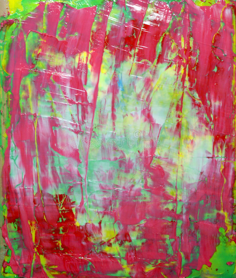 Pintura abstrata vermelha imagem de stock