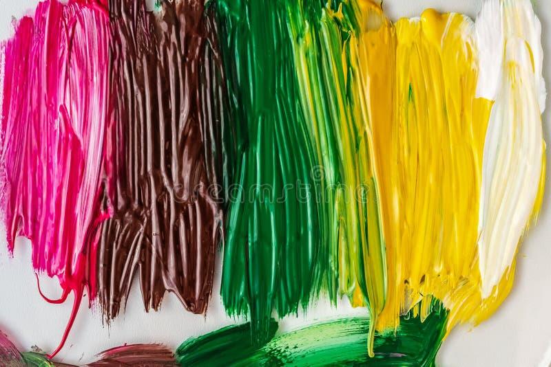 Pintura acrílica abstraia o fundo Textura de pinturas multi-coloridas ilustração royalty free