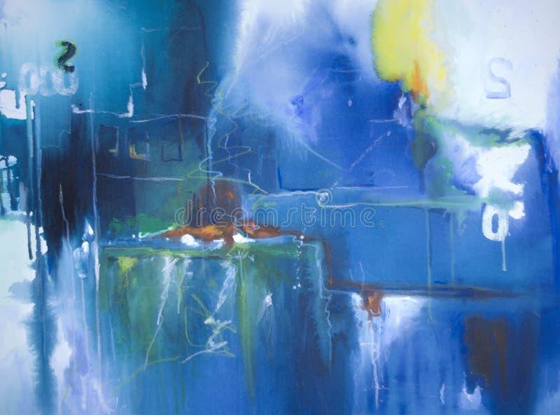 Pintura acrílica abstrata fotografia de stock royalty free