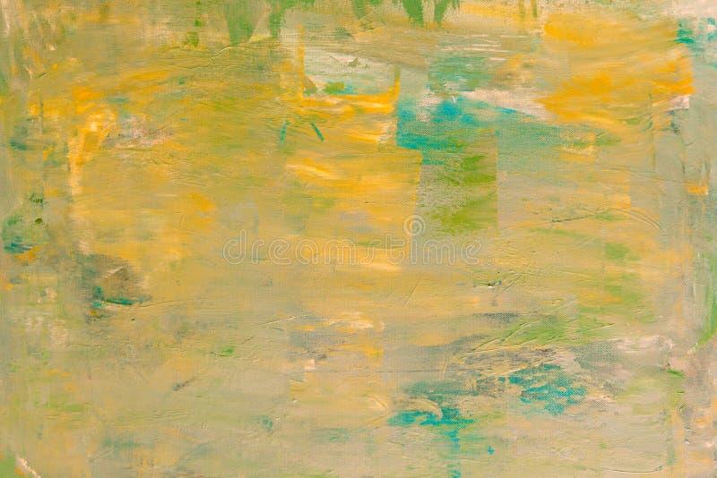 Pintura acrílica abstrata na lona imagem de stock royalty free