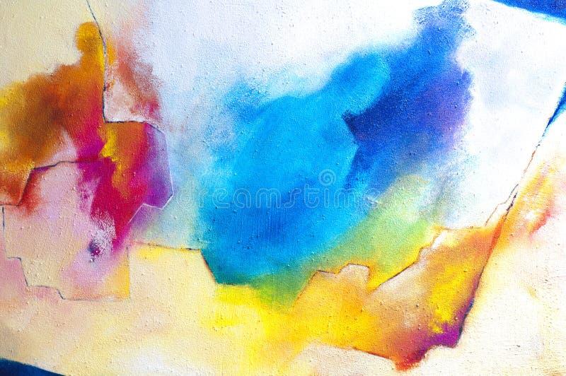 Pintura acrílica abstrata no cartão duro com areia ilustração stock