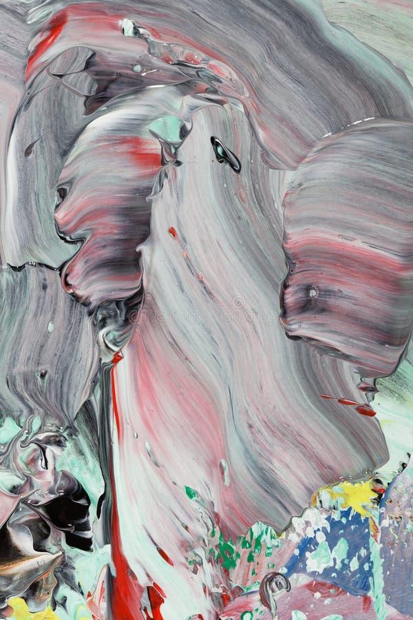 Pintura acrílica cinzenta abstrata imagem de stock