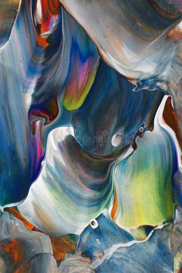 Pintura acrílica colorida fotos de stock royalty free