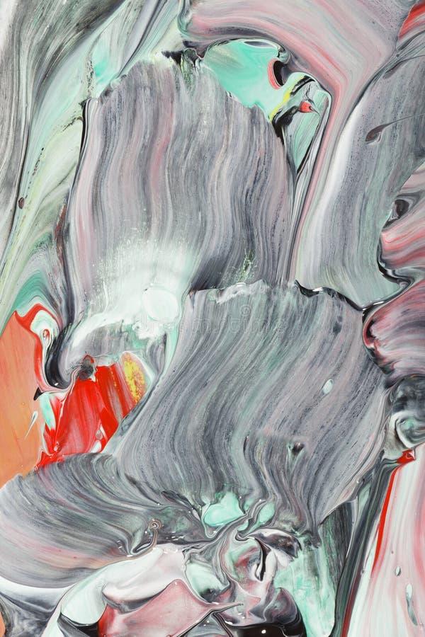 Pintura acrílica com projeto abstrato foto de stock royalty free