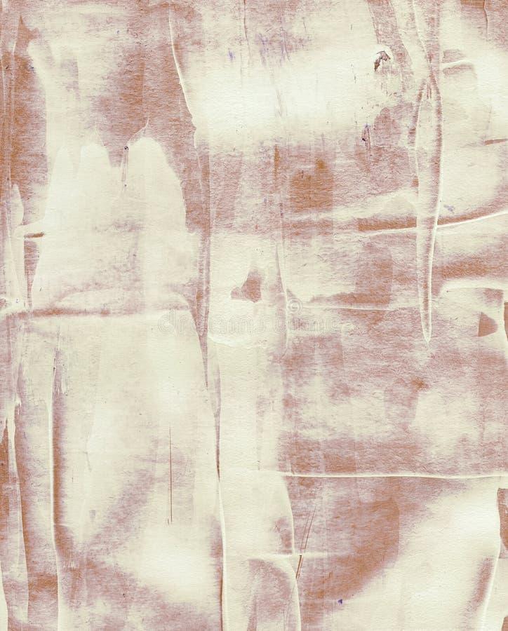 Pintura acrílica da aquarela do Grunge Marrom abstrato fotografia de stock