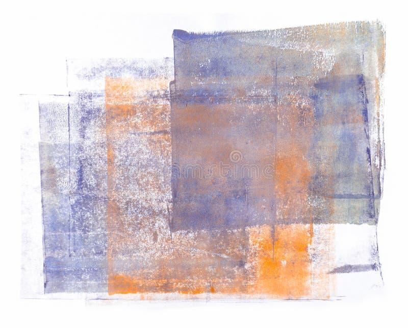 Pintura acrílica rodada aislada en el fondo blanco stock de ilustración