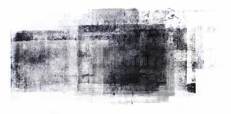 Pintura acrílica rolada isolada no fundo branco imagens de stock royalty free