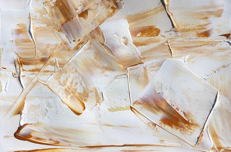 Pintura acrílica tirada mão Fundo da arte abstrata Pintura acrílica na lona Textura da cor brushstrokes ilustração stock