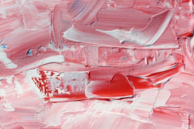 Pintura acrílica tirada mão Fundo da arte abstrata Pintura acrílica na lona Textura da cor brushstrokes imagem de stock
