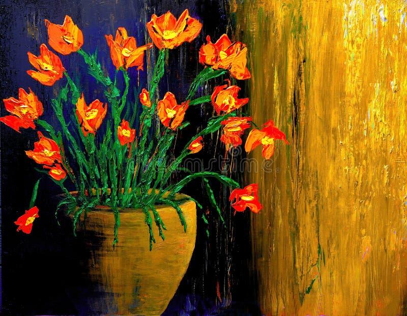 Pintura al óleo ilustración del vector