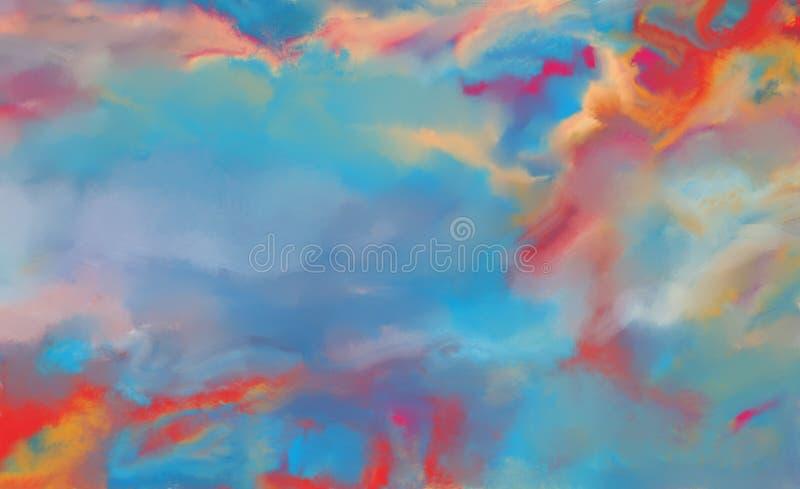 Pintura al óleo abstracta colorida azul imagen de archivo libre de regalías