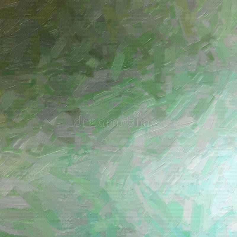 Pintura al óleo abstracta de Brown, gris y verde en el ejemplo cuadrado del fondo de la forma imagen de archivo libre de regalías