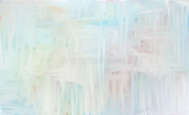Pintura al óleo abstracta del color suave brillante fotografía de archivo libre de regalías
