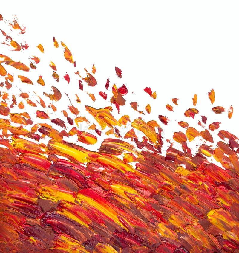 Pintura al óleo abstracta Fondo ilustración del vector