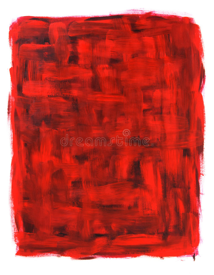 Pintura al óleo abstracta roja y negra ilustración del vector