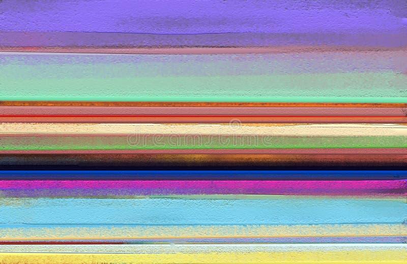 Pintura al óleo colorida abstracta en textura de la lona Arte contemporáneo abstracto para el fondo imagen de archivo