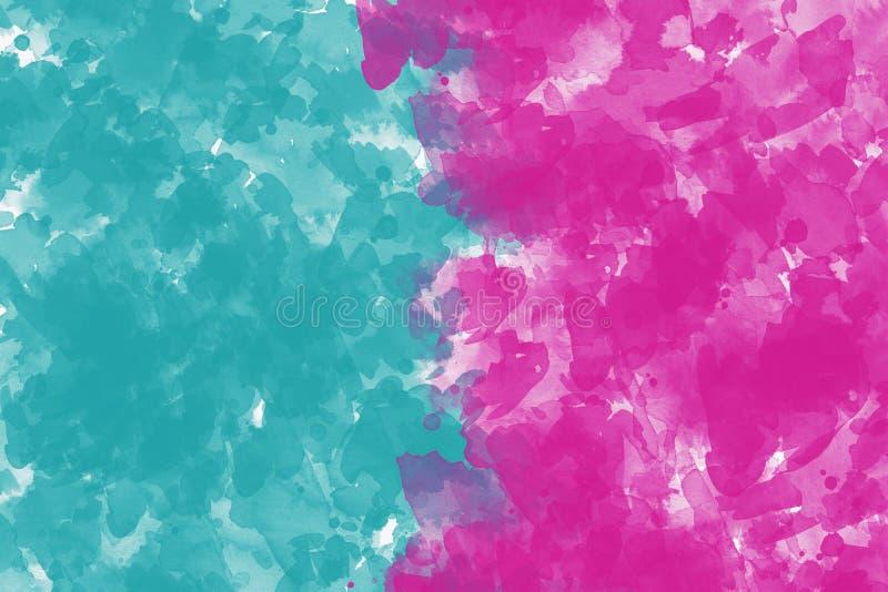 Pintura al óleo colorida de la abstracción en fondo de la lona imagenes de archivo