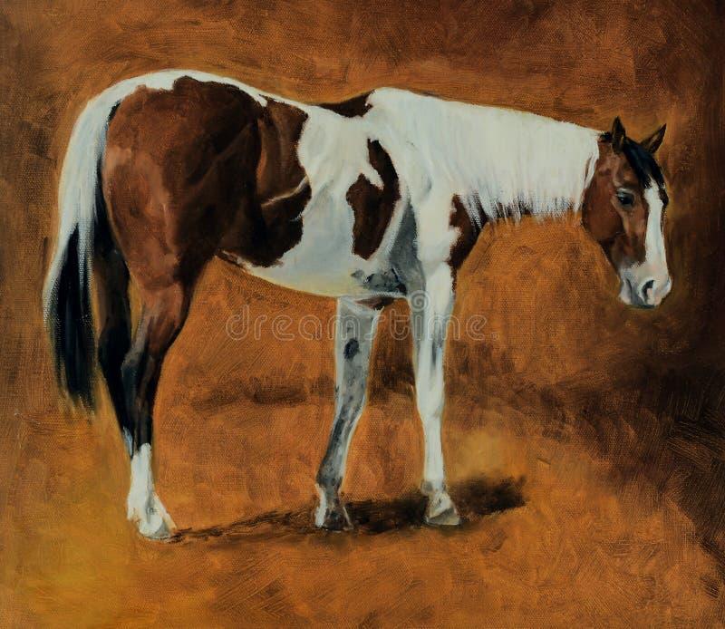 Pintura al óleo del caballo ilustración del vector