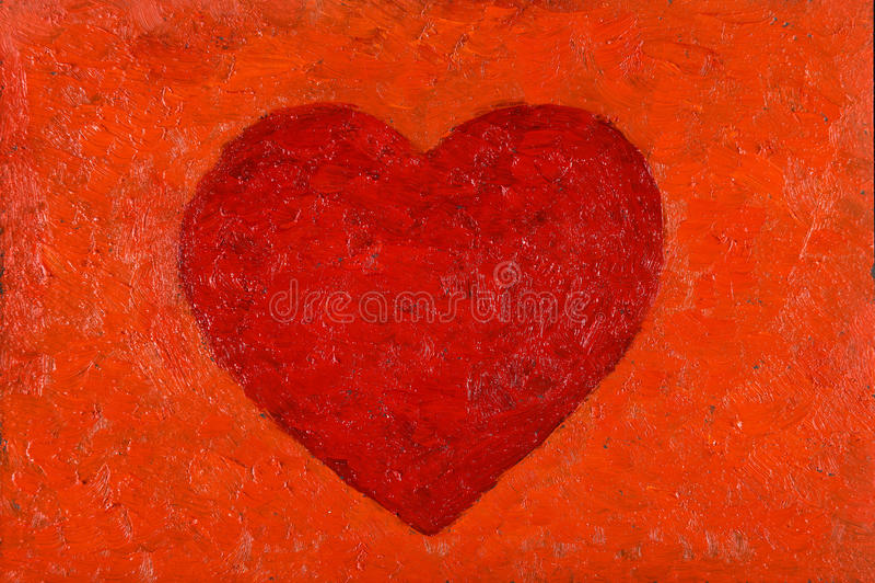Pintura al óleo del corazón libre illustration