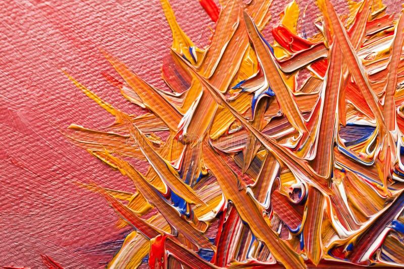 Pintura al óleo en lona imágenes de archivo libres de regalías