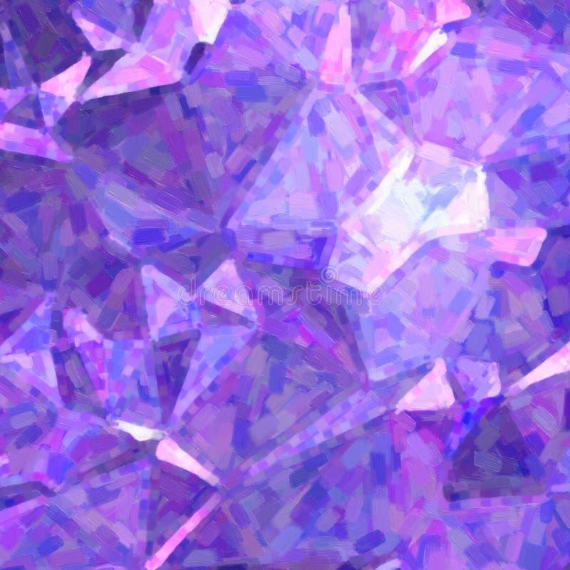 Pintura al óleo impresionista azul marino y púrpura en el ejemplo cuadrado del fondo de la forma ilustración del vector