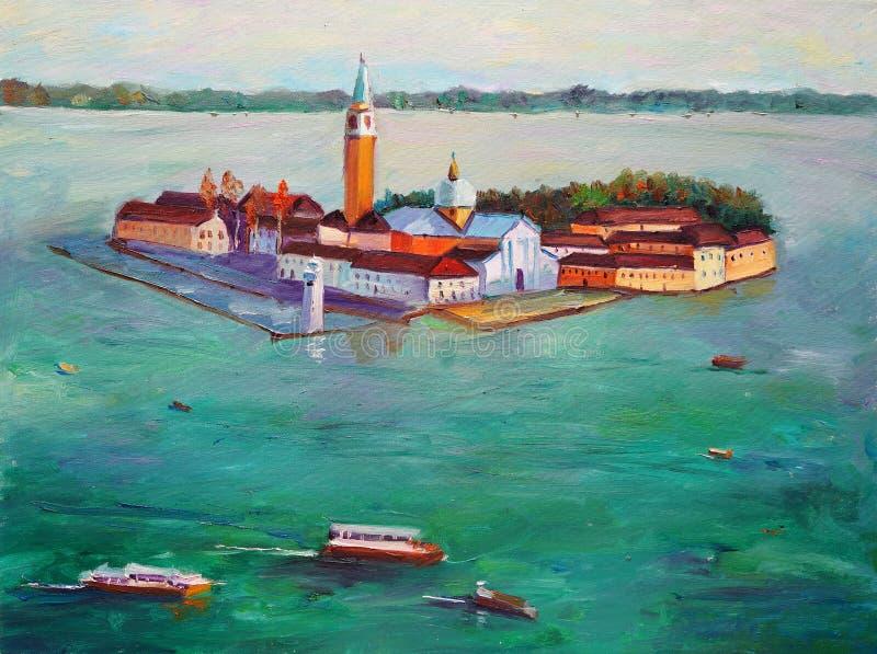 Pintura al óleo - Venecia, Italia libre illustration