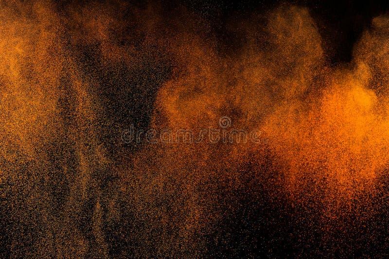 Pintura alaranjada abstrata Holi imagem de stock royalty free