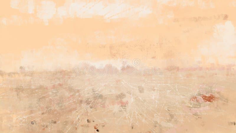 Pintura alaranjada do grunge da natureza da desolação da ilustração do teste padrão seco da textura do deserto ilustração do vetor