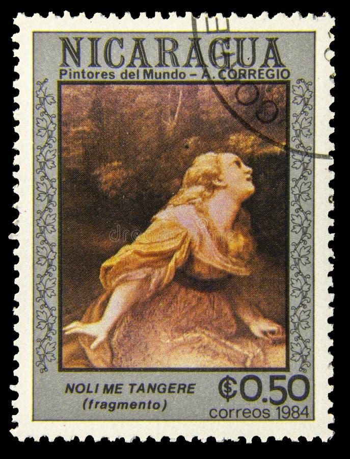 Pintura antiga no selo do cargo fotografia de stock royalty free