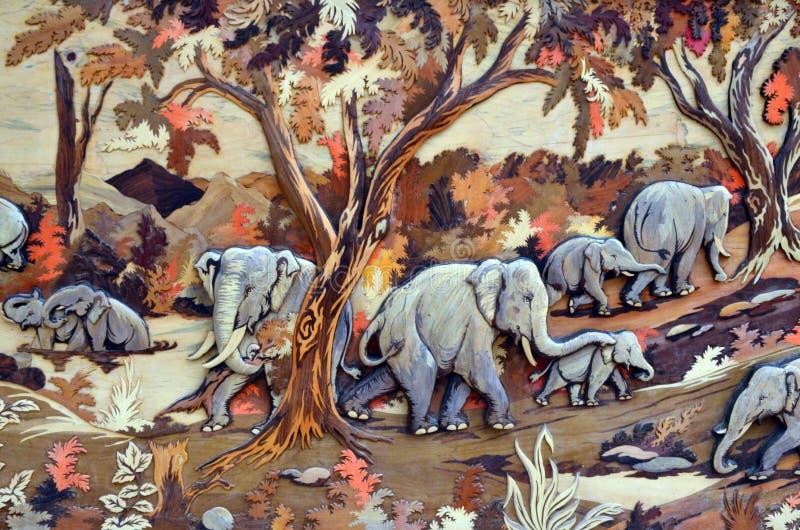 Pintura, arte, elefante, vida salvaje, belleza, naturaleza imágenes de archivo libres de regalías