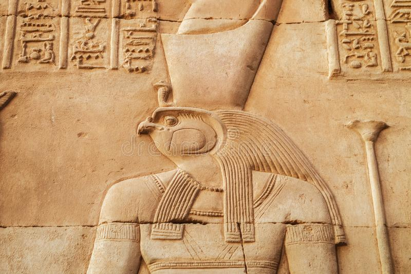 Pintura ascendente cercana de Horus foto de archivo libre de regalías