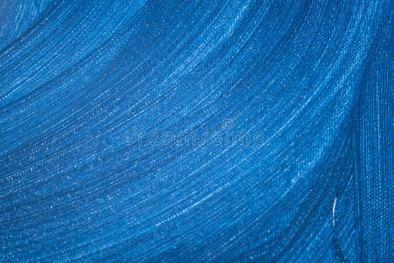 Pintura azul abstracta con las ondas del color fotografía de archivo