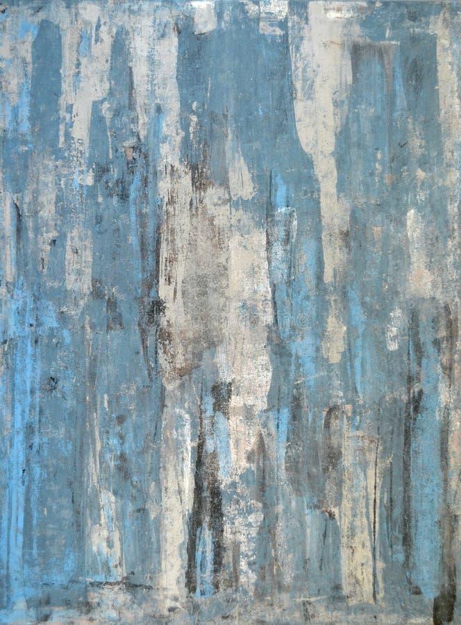 Pintura azul da arte abstracta fotos de stock