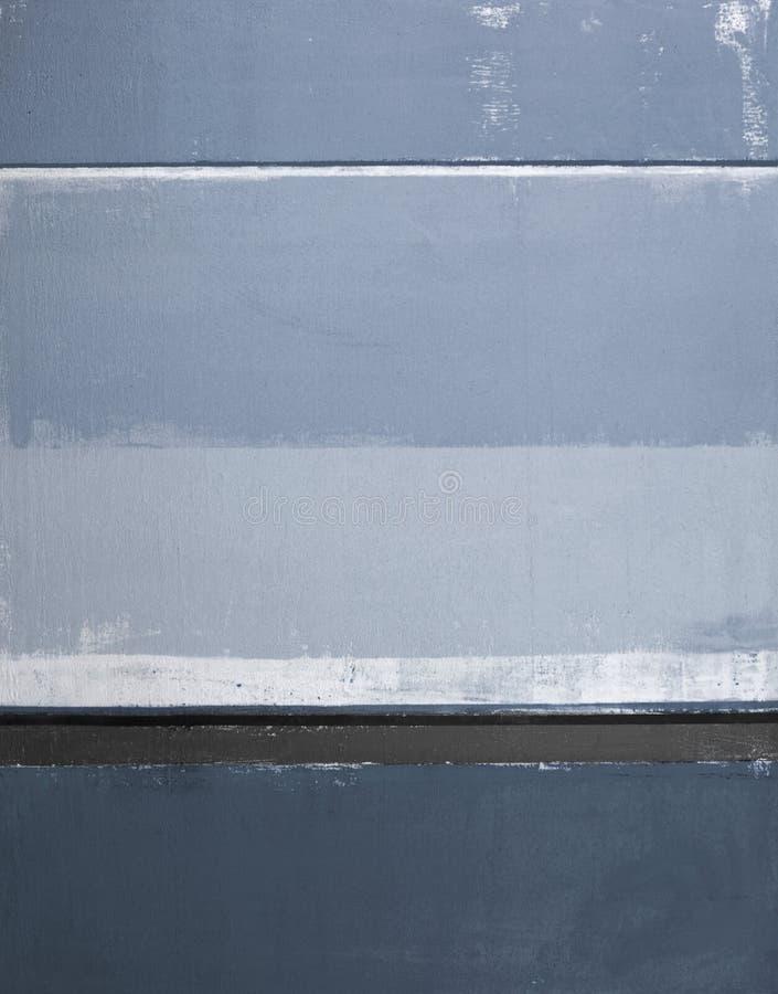 Pintura azul da arte abstracta fotos de stock royalty free