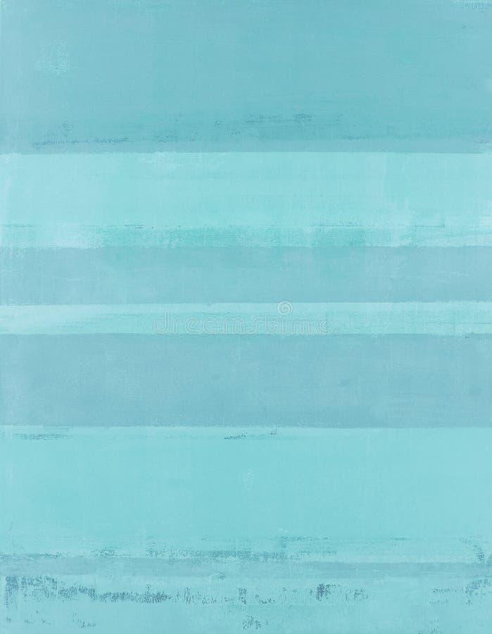 Pintura azul da arte abstracta fotografia de stock