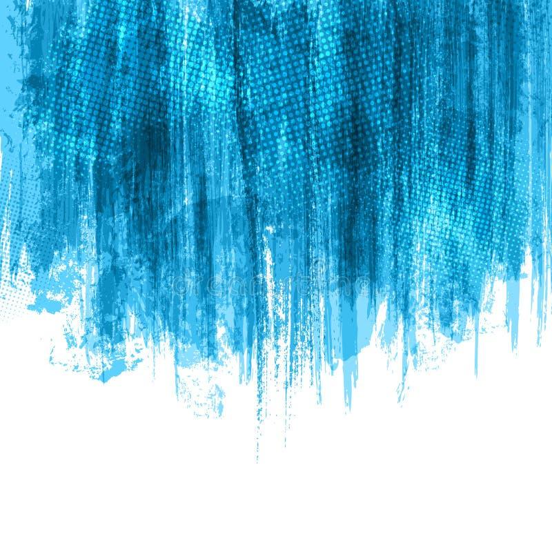 A pintura azul espirra o fundo ilustração do vetor