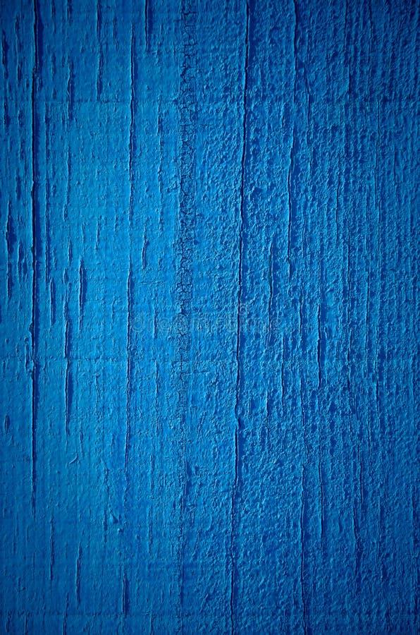 Pintura azul no fundo de madeira foto de stock royalty free