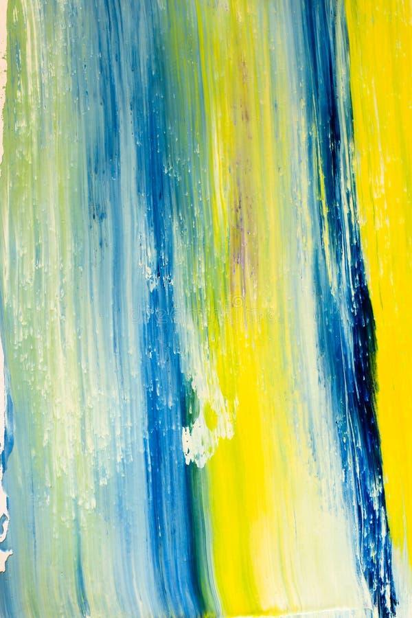 Pintura azul y amarilla fotografía de archivo