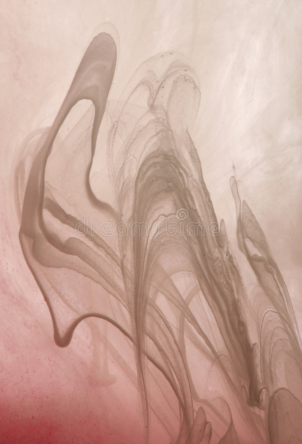 Pintura blanca en agua foto de archivo libre de regalías
