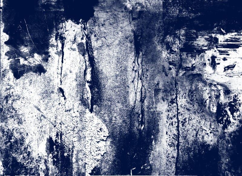 Pintura blanca en azul fotografía de archivo