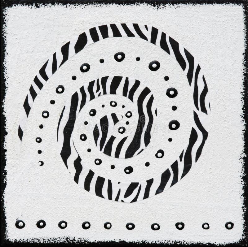 Pintura blanco y negro afric ilustración del vector