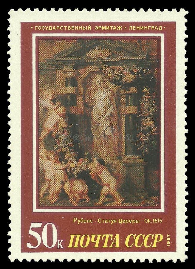 A pintura Ceres por Rubens fotos de stock