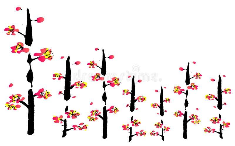 Pintura china de la flor libre illustration